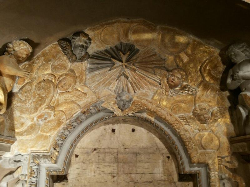 arch over altar
