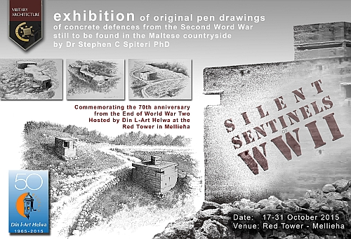 Exhibition of Drawings by Dr. Stephen Spiteri at the Red Tower.17th - 31st October 2015