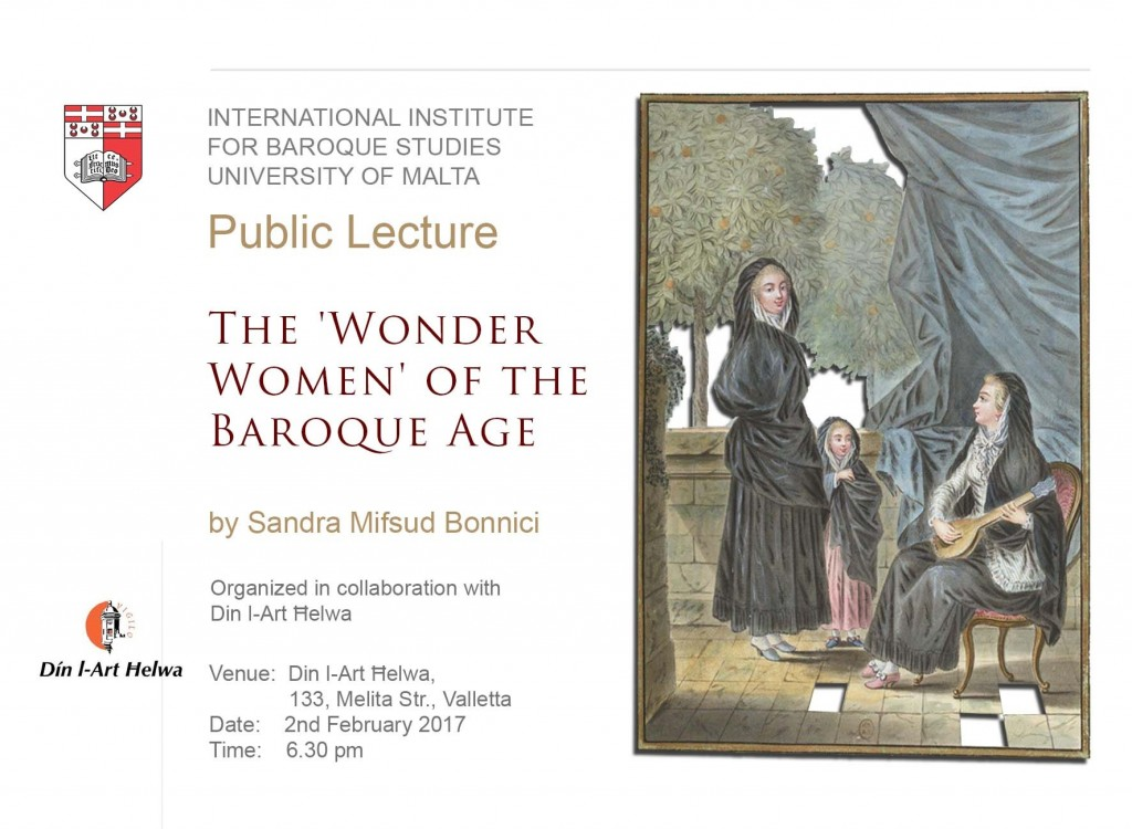 Talk by Sandra Mifsud Bonnici -  The 'Wonder Women' of the Baroque Age